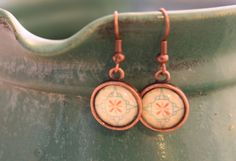 vintage style copper earrings ~ little things by Moni