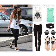 """""""SELENA'S LOOK FOR LESS"""" by tinadhaliwal on Polyvore SELENA GOMEZ INSPIRED LOOK"""