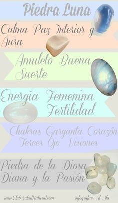 Piedra Luna - Club Salud Natural #gemas #minerales … Crystal Healing Stones, Stones And Crystals, Crystal Meanings, Minerals And Gemstones, Beading Tutorials, Natural Crystals, Third Eye, Wiccan, Salud Natural