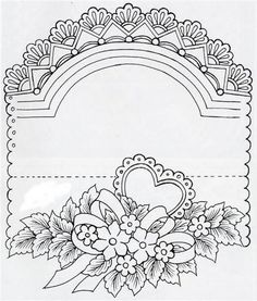 "pattern to print and trace for embossing on vellum: ""Mis Manualidades en Tarjetería Española""  visit me at My Personal blog: http://stampingwithbibiana.blogspot.com/"