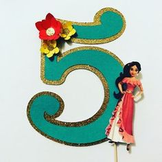 Elena of Avalor cake topper 5th Birthday Party Ideas, Birthday Diy, Girl Birthday, Happy Birthday, Princess Elena Of Avalor, Princess Jasmine, Ballerina Party, Diy Party Decorations, Princess Party