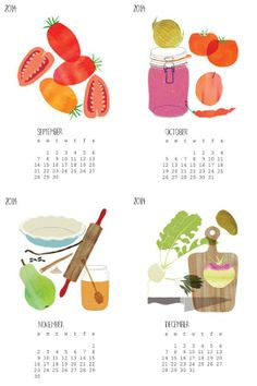 Buy Local by Claudia Pearson | 2014 Food Calendars