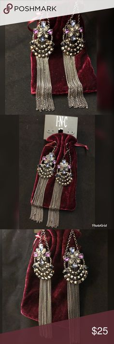 💕🆕🦋Dangling chain Earrings🦋🆕💕 Gorgeous dangling chain earrings by Inc . ❣️ Brand new. ❣️ (Christmas, gift , stocking stuffer , party , prom , special occasion ,birthday , present / fancy / Party / prom / wedding / Anarkali / traditional / Saree / suits / Sari / statement Earrings ) INC International Concepts Jewelry Earrings