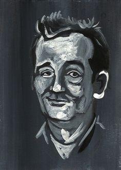 Bill Murray Portrait Ghostbusters Stripes 70s 80s Folk Pop Lowbrow Art Painting | eBay