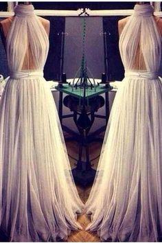 Unique Prom Dress, Long Prom Dress, Evening Dress, Modest Prom Dress, Cheap Prom Dress, Tulle Prom Dress