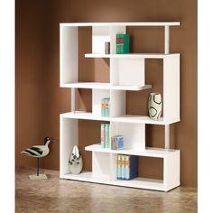 Contemporary Bookcase, Modern Bookshelf, Bookshelf Design, Simple Bookshelf, Modern Contemporary, Bookshelf Decorating, Rustic Bookshelf, Modern Shelving, White Wood Shelves