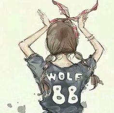 Gurae wolf naega wolf~!! AWOO~!!! keke lets bring our wolves out fangulls~!! *makes the wolf pose* awoo~!! ah saranghaeyo~!!