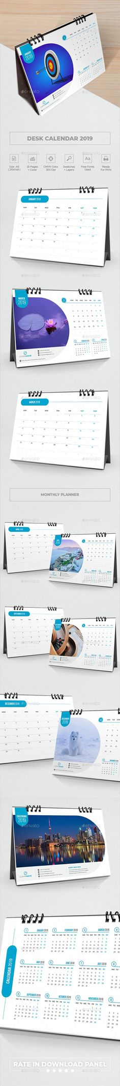#Desk #Calendar 2019 #Planner - Calendars Stationery Calendar 2019 Planner, Office Calendar, Desk Calendars, Planner Template, Calendar Templates, Creative Calendar, Buy Desk, O Design, Designs To Draw