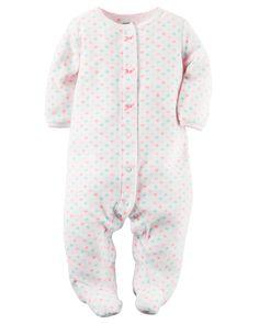 Baby Girl Fleece Snap-Up Sleep & Play | Carters.com