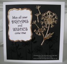 Dandelion Dreams using Spellbinders In'spire Shapeabilities Dandylion Die and Inky Doodles Dandelion Dreams Stamp Set  www.needleworkgardencrafts.co.uk