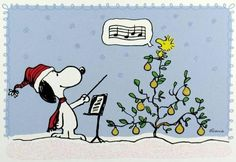 'Christmas Carols', with Snoopy and Woodstock