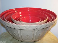 These are my favorite Mason Cash Bowls.