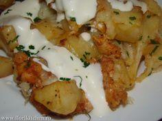 Cartofi la cuptor cu piept de pui si mozzarella – Flori's Kitchen Kefir, Superfoods, Mozzarella, Cauliflower, Shrimp, Food And Drink, Menu, Chicken, Vegetables