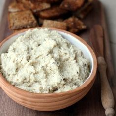 Raw vegan cashew cream cheese. Serve it with toasted bread, crackers or vegetables it is a wonderful snack for anytime.