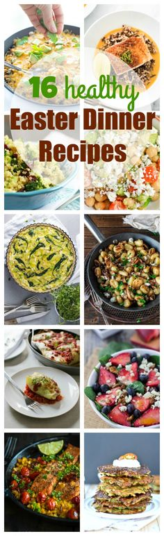 Healthy Easter dinner recipes that won't blow your diet! 16 recipes alternatives to the classic Easter ham.