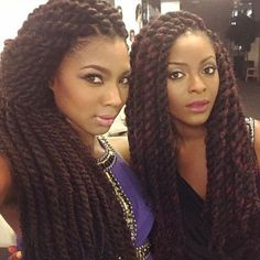 Two Girls With Twists - http://www.blackhairinformation.com/community/hairstyle-gallery/braids-twists/two-girls-twists/ #braidsandtwists