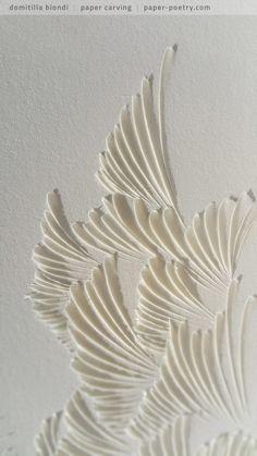 «Quasimodo Remixed» Series - n4 detail | domitilla biondi paper carving _______ #papercarving #papercut #paperwork #paperpoetry #minimal #basrelief #miniature #white #shadowart #italianartist #japaneseart #harmonia #beauty #spirituality #paperporn #magnifique #light #love