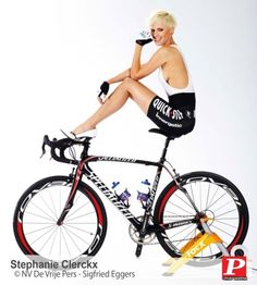 Stephanie Clerckx on a Specialized S-Works