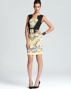 PAILEY PRINTED SHEATH DRESS BCBG Dress is The Truth!