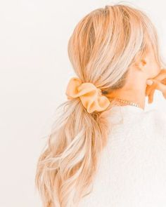 Basic Hairstyles, Cute Hairstyles For Teens, Cute Hairstyles For Medium Hair, Back To School Hairstyles, Teen Hairstyles, Medium Hair Styles, Long Hair Styles, Haircuts, Scrunchies