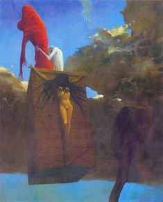 Zdzislaw Beksinski Gallery: Paintings of Beksiński from 1974
