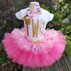 Your place to buy and sell all things handmade 2 Year Old Birthday Party Girl, Candy Theme Birthday Party, 2nd Birthday Outfit, Donut Birthday Parties, Donut Party, Birthday Tutu, Girl Birthday Themes, Birthday Ideas, Geek Birthday