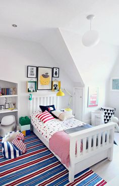 Boy's bedroom makeover with The Little White Company.