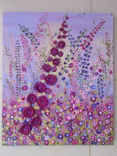 I'm doing this soon!!!Mixed media - acrylics, fabric and beads   on canvas