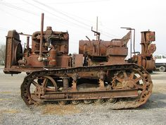 One rusted caterpillar.
