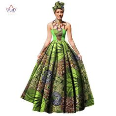 Image of Womens African Dress Dashikis Print Ball Gown Party Dress, Maxi and Strapless Women gown with Free Headwear Plus - without Necklace African Maxi Dresses, African Skirt, African Outfits, Afro, Dashiki Dress, African Dashiki, Gown Pattern, Women Sleeve, Stylish Outfits