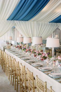 Elegant blush and gold wedding decor at the Lowndes Grove Plantation: http://charlestonweddingsmag.com/DreamDay Photography: Corbin Gurkin - http://corbingurkin.com/