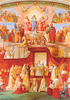 The Proclamation of the Dogma of the Immaculate Conception by Francesco Podesti