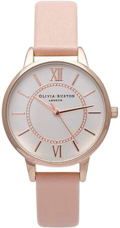 Womens rose gold olivia burton wonderland dusty pink and watch - pink, pink from Topshop - £65 at ClothingByColour.com
