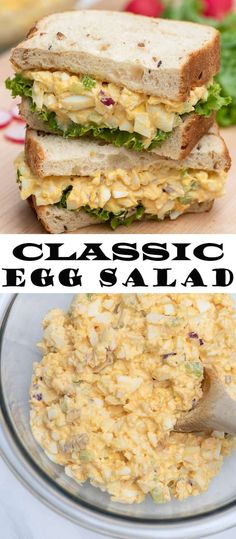 Whether you pile it on greens spread it on crackers or make it a sandwich this classic egg salad recipe is a comforting delicious meal eggsalad eggs lunchrecipes grounding roasted roots with herbed jalapeo yogurt sauce Egg Salad Sandwiches, Delicious Sandwiches, Wrap Sandwiches, Healthy Egg Sandwiches, Egg Sandwich Spread, Egg Salad Sandwich Recipe Healthy, Subway Sandwich, Steak Sandwiches, Classic Egg Salad Recipe