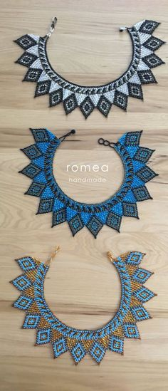 Necklace Choker Huichol Romea Accessories by RomeaAccessories Seed Bead Patterns, Peyote Patterns, Beading Patterns, Beaded Choker Necklace, Beaded Jewelry, Jewelry Necklaces, Mexican Style, Seed Beads, Chokers
