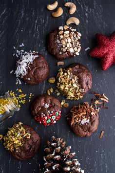 Triple Chocolate Truffle Cheesecake Cookies | halfbakedharvest.com @hbharvest