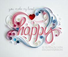 quilling, quilling art, paper, paper art, design, wall art, quilling wall art, love, Etsy, любовь, квиллинг, бумага, дизайн