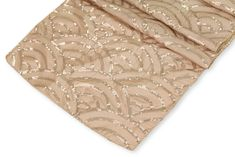 Mermaid Scales Table Runners- Champagne ● $5.99 ● Available from www.cvlinens.com