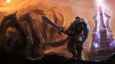 League of Legends fantasy art Nocturne Garen wallpaper background