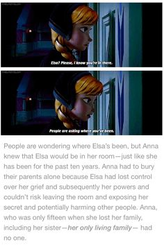 That's why  love this part of the , because she needed Elsa, and she told her she needed her by letting her know she's there for her.