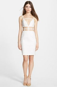 Whitney Eve 'Bitter Melon' Sleeveless Cutout Dress available at #Nordstrom