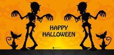 Windlicht  happy halloween scribble -Windlicht Halloween -Egal ob Deko oder Geschenk - Windlichter von Eventlicht - www.eventlicht.com