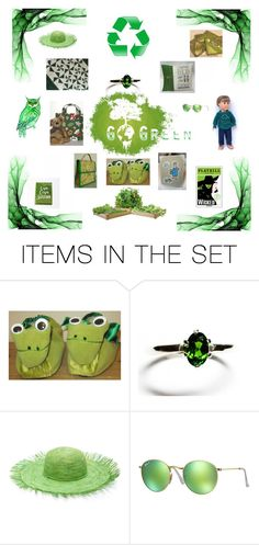 """""""Go Green"""" by krazyboutkats ❤ liked on Polyvore featuring art, GREEN, Gogreen, Recycle and celebrationtimes"""