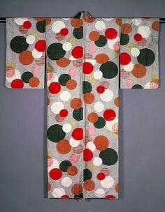 Meisen Kimono with Overlapping Circular Patterns ~AmyLH~