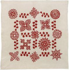 Scherenschnitte Quilt, c. 1895. Artist unknown.  From the Quilts, Inc., Corporate Collection.