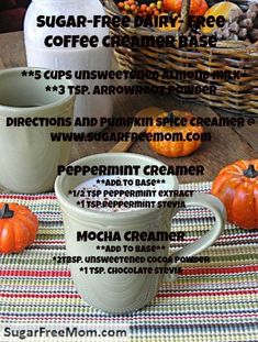 Just take my basic pumpkin spice creamer recipe, remove those spices for pumpkin and replace with flavors of peppermint or mocha. / sugarfreemom.com