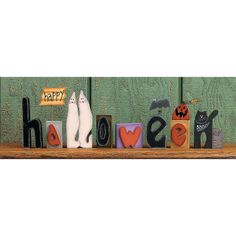 Happy Halloween Blocks - TerrysVillage.com