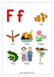 Free Printable English Worksheets - Alphabet Reading (Letter Recognition And Objects Starting With Each Letter) - MegaWorkbook Alphabet Words, Alphabet Phonics, Alphabet Pictures, Alphabet Charts, Alphabet For Kids, Alphabet Worksheets, Alphabet Activities, Preschool Learning Activities, Preschool Worksheets