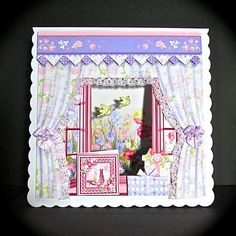 MEADOW VIEW WINDOW APERTURE 8x8 Mini Kit on Craftsuprint designed by Janet Briggs - made by Cynthia Massey