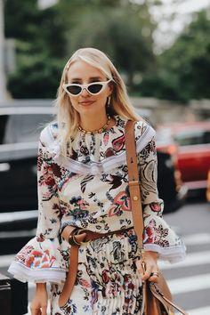 40c4c79d847 Leonie Hanne in white vintage cateye sunglasses
